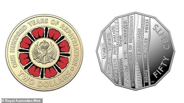 The Royal Australian Mint has released a new 50 cent coin and $2 coin emblazoned with 14 indigenous languages in celebration of the country's diversity