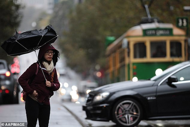 The extreme weather will also bring wild gushes of wind in excess of 90km/h in South Australia and New South Wales