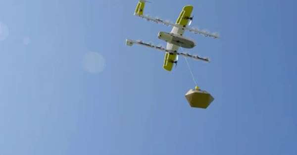 Wing delivered by drone in Logan