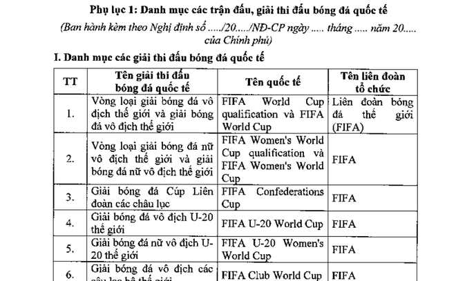 Bộ Tài chính đề xuất cho người Việt cá cược bóng đá vòng loại World Cup - 2