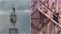 """Sydney: Thót tim nhóm đàn ông liều lĩnh """"treo"""" mình trên tháp AWA Tower"""